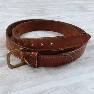 Lands' End brown leather belt sz 42